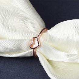 Moduł 2018 nowe mody złota róża kolor w kształcie serca w kształcie serca Wedding Ring dla kobiet Dropshipping