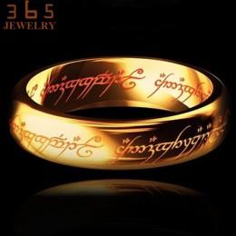 2017 magia list władca pierścienia czarny srebrny złoty tytanowa stal nierdzewna pierścień dla kobiet mężczyzn senhor dos aneis