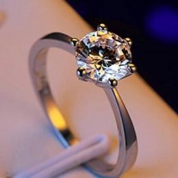 Producent hurtownia sześć pazur złoty pierścień Austria kryształ cyrkon pierścień prezent na Boże Narodzenie dla kobiet biżuteri