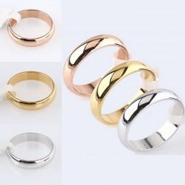 Najnowsze mody na szczęście złota róża kobiety mężczyźni polerowane pierścień ze stali nierdzewnej konwencji biżuteria Wedding B