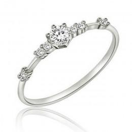 HOMOD 2019 nowy moda kobiety pierścień biżuteria na palce różowe złoto/srebro/kryształki w kolorze złota kryształowe Rings 4/5/6