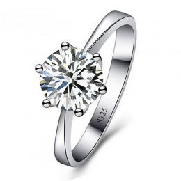 JEXXI romantyczne obrączki biżuteria Cubic Pierścionek z cyrkonią dla kobiet mężczyzn 925 srebro pierścienie akcesoria