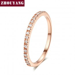 Ślub pierścień dla kobiet Man zwięzłe klasyczne Multicolor Mini cyrkonia różowe złoto kolor moda biżuteria R132 R133 ZHOUYANG
