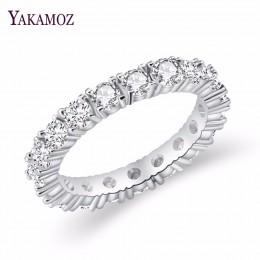 2017 biżuteria luksusowa marka biały kolor wkładka cyrkonia unikalny kształt pierścionek dla kobiet rozmiar zaręczynowy ślub
