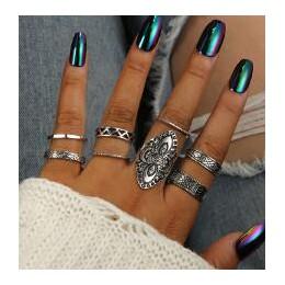 Docona 5 sztuk/zestaw moda wysokiej jakości czechy styl pierścienie zestaw klasyczny kształt wzór kryształ wisiorek dla kobiet C