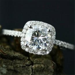 ZORCVENS modny Design gorąca sprzedaż biały CZ srebrne pierścionki AAA cyrkon obrączki dla kobiet