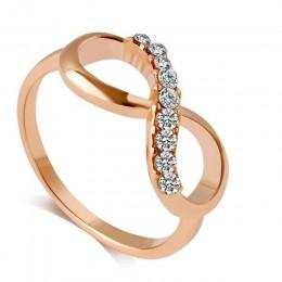 IMucci nowy projekt hot sprzedaż moda Alloy kryształowe Rings złoty kolor nieskończoność pierścień oświadczenie biżuteria hurtow