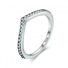 WOSTU gorąca sprzedaż 925 Sterling Silver 9 style do układania w stos Party Ring Finger dla kobiet oryginalna elegancka biżuteri