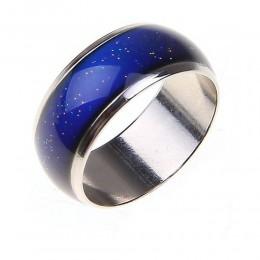 Pierścień ze stali nierdzewnej zmiana pierścienie nastrój nastroju/termiczny pierścień nastroju szerokie 6mm inteligentne biżute