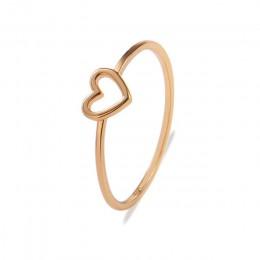 2019 nowy minimalistyczny miedzi wzrosła złoty kolor srebrny w kształcie serca w kształcie serca Wedding Ring dla kobiet miłość