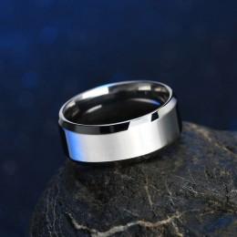 ELSEMODE wysokiej jakości tytanowa stal nierdzewna pierścienie czarny dla mężczyzn złoty srebrny niebieski Multi Color Smart US