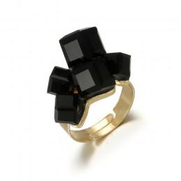 Tocona Vintage Antique złoty czarny Rhinestone otwarcia Knuckle Finger Midi pierścienie zestaw dla kobiet Punk oświadczenie biżu