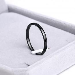 CACANA pierścienie ze stali nierdzewnej różowe złoto antyalergiczne gładkie proste spersonalizowane zwyczaj pary ślubne pierście