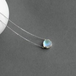 Thaya 55 cm Aurora wisiorek naszyjnik Halo kryształowy kamień s925 srebra skalę światła naszyjnik dla kobiet elegancka biżuteria
