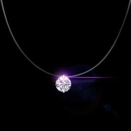 Jemmin darmowa wysyłka moda 925 srebrny łańcuch krótki kobiety naszyjniki na impreza biżuteria wyczyść wisiorek z cyrkonią w ksz