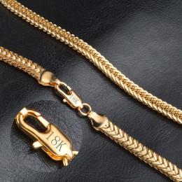 JEMMIN gorąca sprzedaż 18 K Gold wykwintne gładka mężczyzna/kobiety naszyjnik łańcuchy z Lobster klamrami zestaw ciężkich fabryk