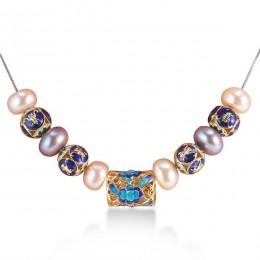 Europejski styl naturalny naszyjnik z pereł dla kobiet AAAA wysokiej jakości perła biżuteria nowe niebieskie akcesoria z 45 cm s
