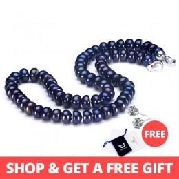 2019 niesamowite nowe prawdziwa czarna perła biżuteria naszyjnik dla kobiet, naturalna perła słodkowodna słodkie miłość kształt