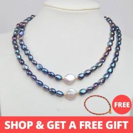 ASHIQI naturalne słodkowodne perła baroku naszyjnik z pereł dla kobiet autentyczne 925 srebro standardowe owalne biżuteria