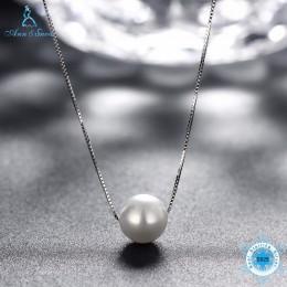 Ann & Snow proste panie biżuteria 925 Sterling srebrny naszyjnik biały Shell Pearl wisiorek naszyjniki moda akcesoria do prezent