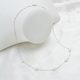 ASHIQI prawdziwe naturalna perła słodkowodna naszyjnik wisiorek dla kobiet z 925 Sterling Silver Chain moda biżuteria