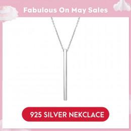 LicLiz Chic 925 Sterling srebrna belka wisiorek choker naszyjniki w stylu Punk nowy rok prezenty Fine Jewelry dla kobiet Collare