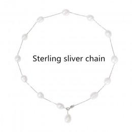 [Nimfa] 925 sterling silver biżuteria biżuteria – naturalne perły biały barokowy pearl biżuteria naszyjnik wisiorek dla kobiet x