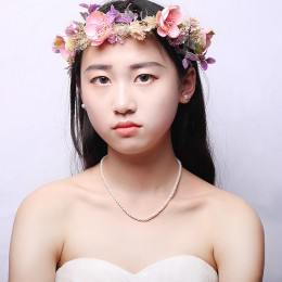 JYX naszyjnik z pereł naturalne słodkowodne hodowlane Choker naszyjnik dla dziewczyny prawdziwe perły Party naszyjnik (4-10mm) 3