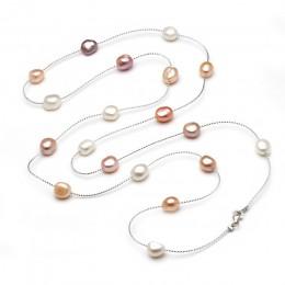 Oryginalna słodkowodne perły bransoletka wielowarstwowy długi naszyjnik z pereł kobieta, ślub modny naturalny naszyjnik z pereł