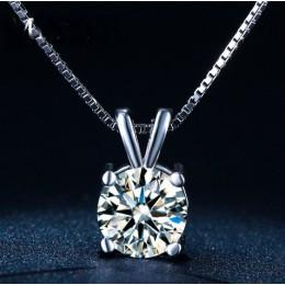 Nowy oryginalny 925 srebrny kryształy z austriackiej Choker naszyjniki Fine Jewelry dla kobiet Party akcesoria
