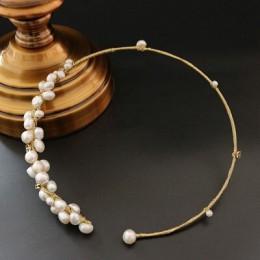 GLSEEVO naturalne wody słodkiej perła baroku Choker naszyjnik prezenty dla kobiet muszla kwiat naszyjniki niestandardowe luksuso