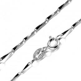 JewelryPalace 925 Sterling srebrny łańcuch dla kobiet/dziewczyny 100% prawdziwej naszyjniki klasyczne podstawowe karabińczyk biż