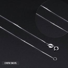 Nie fałszywe 925 S925 srebro 925 1mm link łańcuch akcesoria kobiety 16 18 cal koraliki rolo piłka fala twist box wąż gwiazda wło