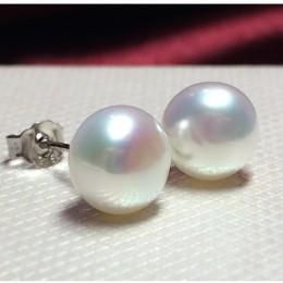 Barokowy tylko 100% prawdziwa perła słodkowodna biały różowy fioletowy niebieski srebrny stadniny kolczyki moda biżuteria dla ko