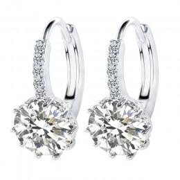 JEMMIN błyszczące kształt stylu Hoop kolczyki dla kobiet kobieta 925 Sterling Silver AAAAA cyrkonia miłośników najlepszy prezent