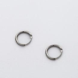 INZATT prawdziwe 925 Sterling Silver minimalistyczny gładki okrągły Hoop biżuteria wysokiej jakości kolczyki akcesoria osobowośc