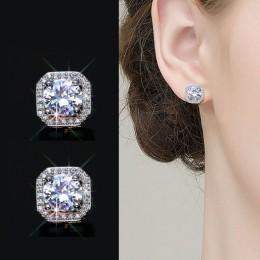 2019 nowych moda biżuteria ze srebra próby 925 igły Hollow rzeźbione kolczyki kobiece kryształ z austriackiej kobieta prezent na