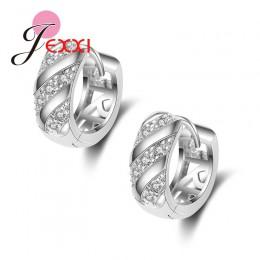 Jemmin Fashion 925 Sterling Silver małe kolczyki hojny luksusowe kolczyk stadniny dla kobiet/dziewczyna ucha biżuteria błyszcząc