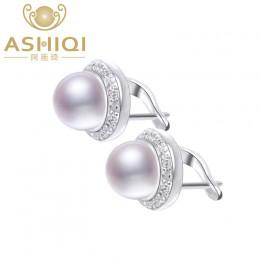 ASHIQI oryginalne naturalna perła słodkowodna stadniny kolczyki dla damska biżuteria na prezent hurtownie