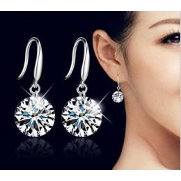 Hot moda biżuteria ze srebra próby 925 kolczyki kobiece kryształ z Swarovski nowa nazwa kobiety kolczyki bliźnięta mikro zestaw