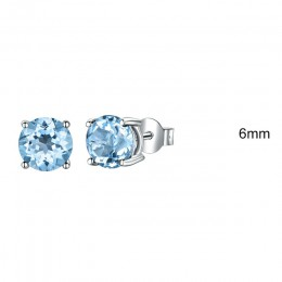 UMCHO majątek 925 Sterling Silver biżuteria stworzył rosyjski niebo niebieski Topaz stadniny kolczyki eleganckie rocznica dla pr
