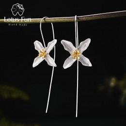 Lotus zabawy majątek 925 Sterling Silver naturalne ręcznie robione elegancka biżuteria w stylu vintage poetyckie koniczyny mody
