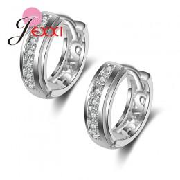 Jemmin moda 925 kolczyki sztyfty ze srebra wysokiej próby dla kobiet hojny New Arrival Party akcesoria z błyszczące kryształowe