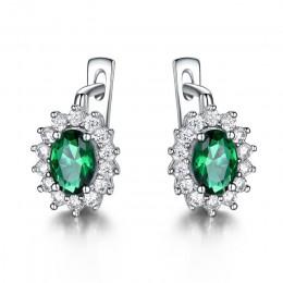 UMCHO stałe 925 Sterling Silver kamień klipsy dla kobiet niebieski Sapphire Fine Jewelry ślub zaręczyny walentynki prezent