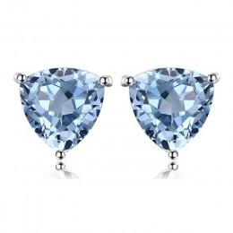 JewelryPalace błękitny Topaz 925 Sterling Silver połączenie stadniny kolczyki dla kobiet piękne biżuteria 2018 nowa gorąca sprze
