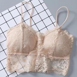 Kobiety seksowna kamizelka klatki piersiowej wyściełane Tank Tops dla kobiet na sobie bielizna fitness koronki bralette crop top