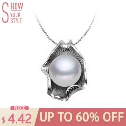 ZHBORUINI naszyjnik z pereł perła biżuteria 925 Sterling Silver biżuteria dla kobiet naturalna perła słodkowodna muszla wisiorki