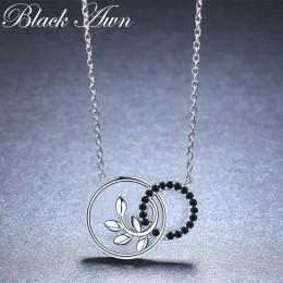 Okrągłe roślin romantyczny przyjeżdża 925 Sterling Silver Fine Jewelry Trendy kwiat zaręczyny naszyjniki i wisiorki dla kobiet K