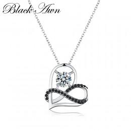 Romantyczny przyjeżdża 925 srebro Fine Jewelry Trendy zaręczyny serce naszyjniki i wisiorki dla kobiet Bijoux Femme P070