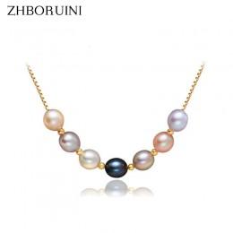 ZHBORUINI 2019 perła biżuteria naturalna perła słodkowodna wielokolorowy naszyjnik z pereł wisiorek 925 Sterling Silver biżuteri